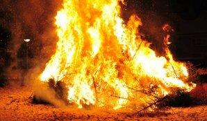 Zaterdag 5 januari: kerstboomverbranding