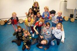 Enthousiaste kinderen in de herfstvakantie
